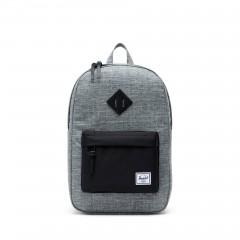 2d2e57b4d2d Balo Herschel Heritage Mid-Volume Backpack 10019-00919-OS Raven Crosshatch